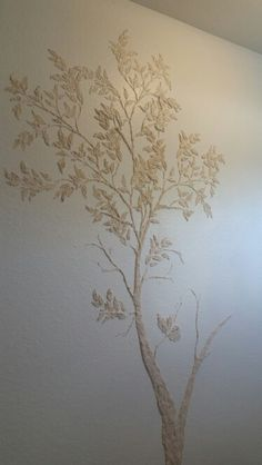 Plastered tree using stencils from Elegant stencils.com