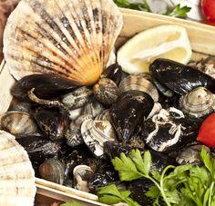 """Chissà perché si chiamano """"frutti di mare"""". Secondo noi perché sono freschi, profumati e saporiti come frutti appena colti. Solo che questi sono appena pescati. #Canova #fruttidimare #pescefresco"""