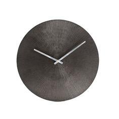 Maximes Ridges Wall Clock, Black, Madeleine Home(Aluminum) Grey Clocks, Cool Clocks, Slate Appliances, Wooden Pattern, Wall Clock Online, Dcor Design, Rustic Elegance, Modern Decor, Metal Working