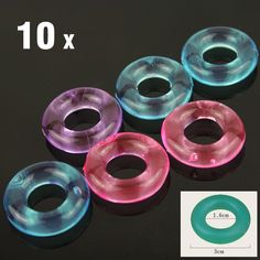 10Pcs Stay Hard Donuts Silcone Cock Rings, Delaying Ejaculation Rings, Penis Ring, Flexible Glue Cock Ring, Sex Toys for Men