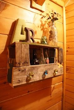 Pallet to coat rack, wine rack, anything rack. This one is my favorite pallet idea.