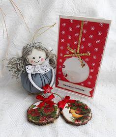 Culori cusute...: Schimb -Craciun fericit!! Christmas Ornaments, Holiday Decor, Projects, Blog, Home Decor, Log Projects, Blue Prints, Decoration Home, Room Decor