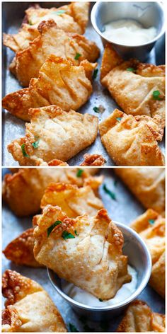 Fried shrimp wontons - crispy wontons filled with shrimp are popular dim sum found at Chinese restaurants. Make them at home with this easy recipe! Wonton Recipes, Seafood Recipes, Appetizer Recipes, Cooking Recipes, Fried Shrimp Recipes, Shrimp Wonton, Crispy Wonton, Fried Wonton, Shrimp Salad