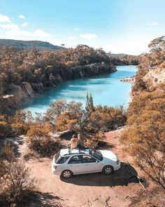 """Discover Tasmania on Instagram: """"Everyone loves a Sunday afternoon road trip! @tasleolife took a break to check out the vibrant turquoise waters of Little Blue Lake. The…"""""""