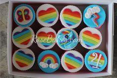 Rainbow & Rainbow Dash cupcake toppers