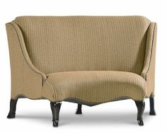 Curved settee from Schnadig.