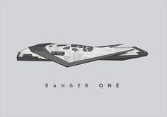 vector illustration of Ranger One from the film Interstellar