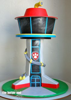 Paw Patrol Lookout Tower Bottom Is Rice Krispie Treats