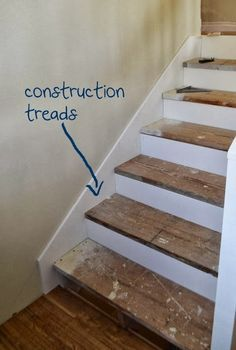 How To Paint Furniture Step-by-Step to Finishing Steps Ana White - Homemaker Refinish Stairs, Redo Stairs, Staining Stairs, Ana White, Finishing Stairs, Basement Steps, Basement Stairwell Ideas, Staircase Makeover, Basement Makeover