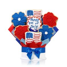 4th of July Military | 4th of July Cookie Bouquet