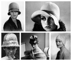 CLOCHE: Sombrero en forma de campana de la década de 1920-1930.