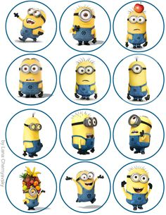 Cool : Minions Topper For Cupcakes { Despicable Me }