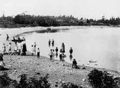 1891 Children at Oak Bay Beach British Columbia Interesting History, Vancouver Island, British Columbia, Victoria, Explore, Mountains, Children, Beach, Water