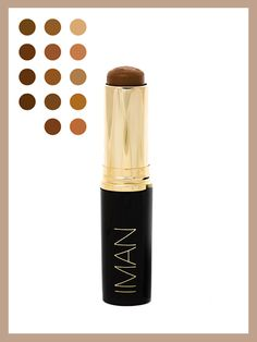 Number of shades: 14  Infused with jojoba esters, this stick helps regulate your natural production of oil, hydrating without clogging pores.  Iman Cosmetics Second to None Stick Foundation, $16 (imancosmetics.com).   Photo illustration: Jeremy Allen/Allure; courtesy of Iman (products and swatches)