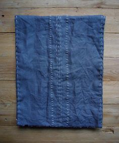 Handstitched linen scarf by Sandra Eterovic