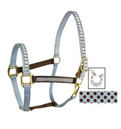 Personalized Horse Tack | COLOR DUO RIBBON SAFETY HALTERS