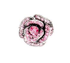 Pierścionek Vintage z Różowymi Kryształkami Róża #ring #vintage #pierscionek