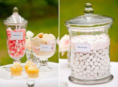 diy wedding candy jars