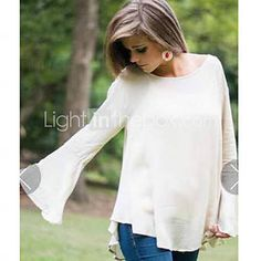 Women's Round Neck Long Sleeve Cotton Top