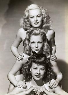 June Haver, Vi­vian Blaine, and Vera-Ellen, 1940's Hairstyles