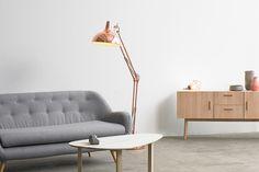 Borgillio gulvlampe - kobber