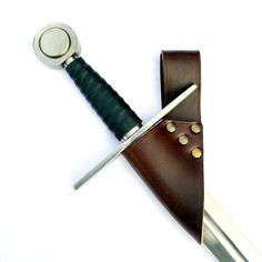 Medieval sword Hanger made of genuine leather - Available on ETSY by Pera Peris - House of History