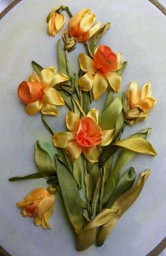 silk ribbon embroidery designs: http://homedecoratingideasphotos.blogspot.com/2012/10/silk-ribbon-embroidery.html