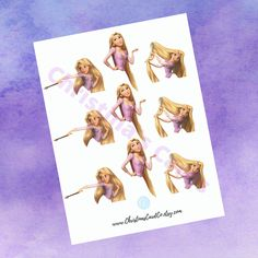 Disney Princess Rapunzel, Disney Tangled, Rapunzel Cupcakes, Disney Party Decorations, Cupcake Toppers, Party Time, Printables, Jpg File, Note