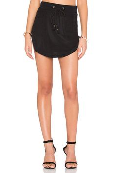 Nightwalker Apocalypto Mini Skirt in Black | REVOLVE