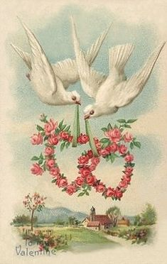 Dreams Are Made To Come True Up In The Sky.....So Let's Be Valentines, Just You And I...~ Vintage Valentine <3
