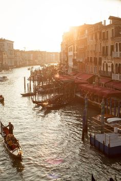 a ride on the canal in Venice