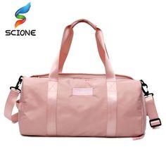 a06e6ab64503 Stylish Outdoor Waterproof Nylon Sports Gym Bags Men Women Girls Training Fitness  Travel Handbag Yoga Mat Bag Sac Sport