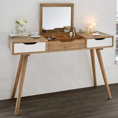 Milan Dressing Table with Mirror