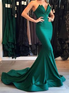 Designer Green Mermaid 2017 Evening Dress Long Party Gowns On Sale Quality Wedding Dresses, Prom Dresses, Evening Dresses, Bridesmaid Dresses, Homecoming Dress - Prom Dresses With Sleeves, Cheap Prom Dresses, Quinceanera Dresses, Sexy Dresses, Formal Dresses, Bridesmaid Dresses, Fashion Dresses, Wedding Dresses, Evening Dresses Online