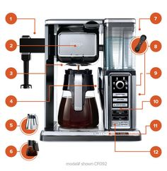 It's more than a coffeemaker. The next-generation Ninja Coffee Bar® is a coffee system—complete with a variety of brew types and sizes, & a built-in frother.