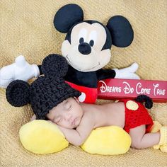 Newborn baby photo prop Mickey Mouse prop by PinkPoppiesStudio