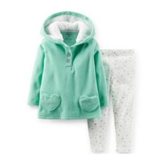 Carter's® 2-pc. Hooded Top and Leggings Set – Girls newborn-24m  found at @JCPenney