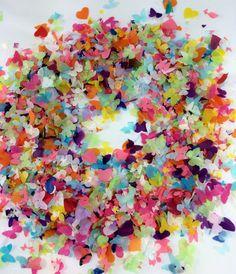 Rainbow Biodegradable Confetti Butterfly Heart & by ConfettiLaneUK