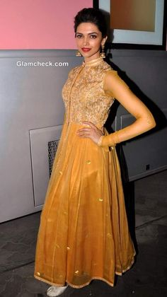 Deepika Padukone in mango anarkali