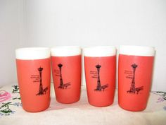 Vintage Set of 4 Seattle World's Fair 1962 by TheInstantMemory