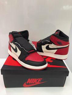 7cbc60a0ff92b3 6.5 Men Air Jordan Retro 1 High OG BRED TOE (555088-610) Gym Red  Black-S  White  Jordan  BasketballShoes