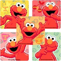 ELMO Stickers x 5 - Birthday Party Favours -Fruit Scented - Sesame Street - Loot Elmo Birthday, Birthday Party Favors, Birthday Parties, Party Favours, Birthday Ideas, Elmo World, Sesame Street Party, Elmo Party, Decorate Notebook