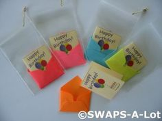 Mini 100th Anniversary Birthday Card/Envelope SWAPS Kit for Girl Kids Scout makes 25