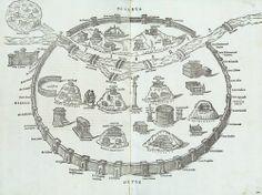 Marco Fabio Calvo, 16th-century study of ancient Rome (Antiquae urbis romae cum regionibus simulachrum), 1532.