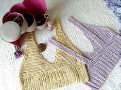 Crochet Crop Top FREE shiping to Germany Handmade Summer