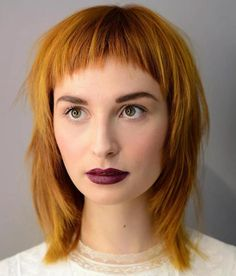 Ginger Shag With Cropped Bangs