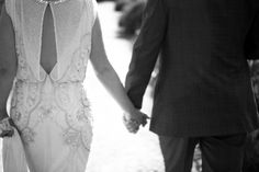 Just married! Jenny Packham beaded dress.