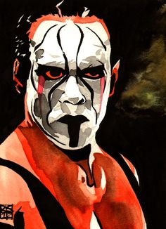 "Sting l Ink and watercolor on 9"" x 12"" watercolor paper l http://www.robschamberger.com/commissions"