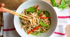 The ingredients for this cold noodle dish can be prepared ahead of time, leaving nothing more to do in the morning before work than to assemble the noodles and vegetables and dress them with sesame oil, soy, tahini, ginger and a few other things Prepare for lunchtime deliciousness.