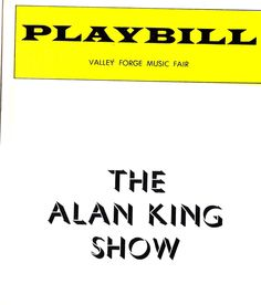 Talk about a first class show! Alan King's opening act was none other than Miss Peggy Lee!
